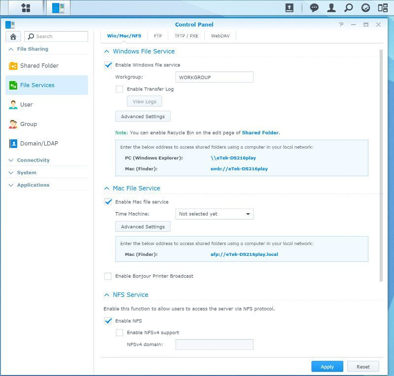 Synology_DS216play-SS-services 1