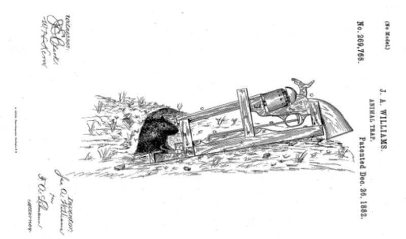 gun mouse trap patent