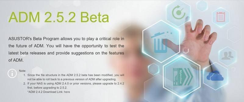 ASUSTOR ADM 2.5.2beta