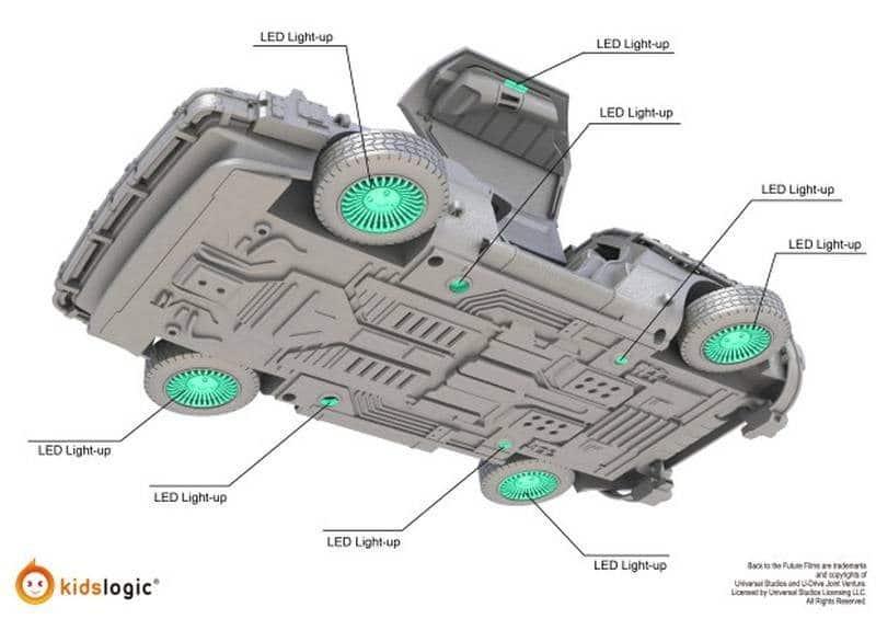 Levitating DeLorean LEDs 1