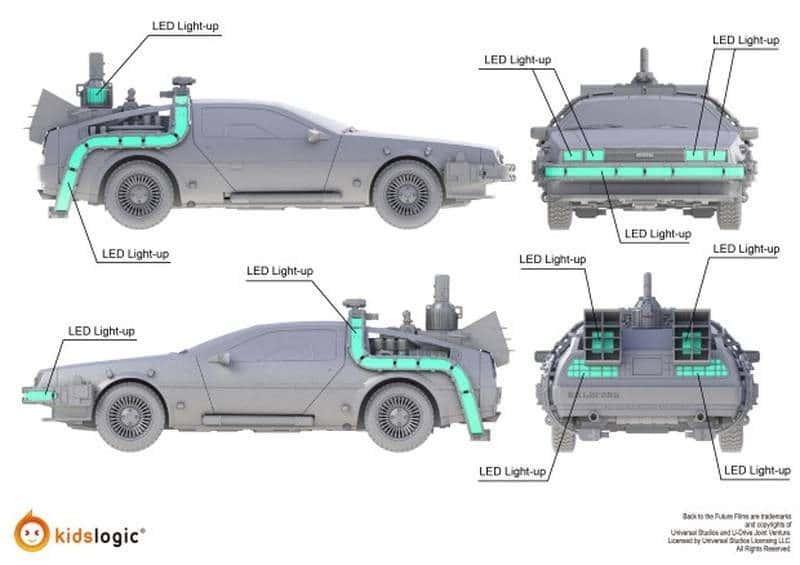 Levitating DeLorean LEDs 2