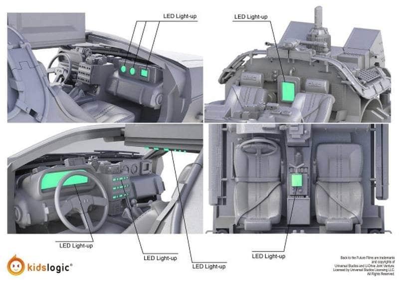 Levitating DeLorean LEDs 3