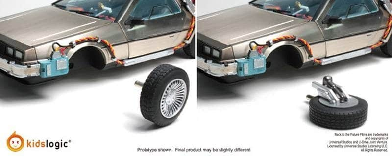 Levitating DeLorean wheels