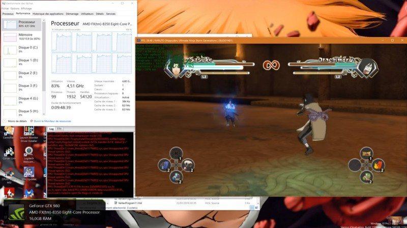 Ultimate Ninja Storm Generations Running on RPCS3 DX12