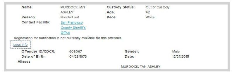 ian murdock arrest