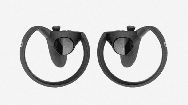 The Oculus Touch VR controller