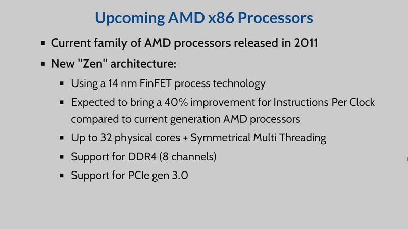 AMD Datacentre Opteron Zen