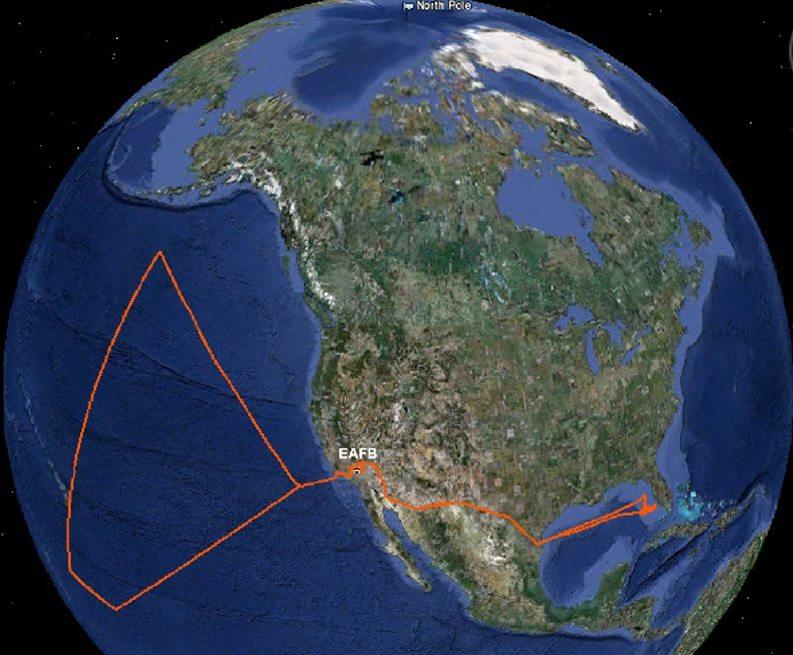 NASA drone path