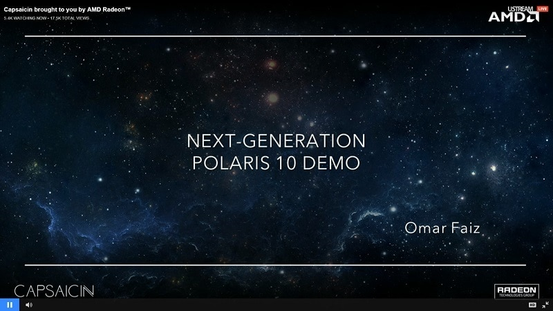 AMD Capsaicin Polaris 10 GPU Radeon Demo
