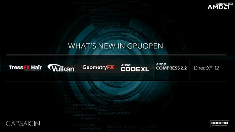 AMD New GPUOpen API Radeon GPU