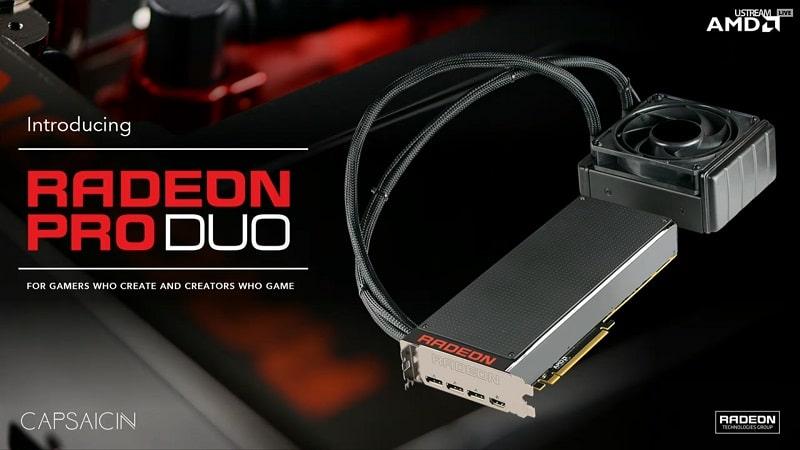 AMD Radeon Pro Duo 4 GPU Fiji Fury
