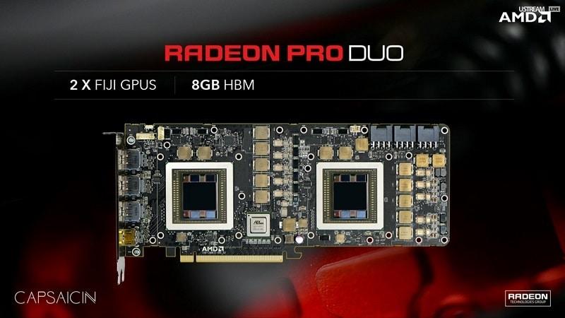 AMD Radeon Pro Duo FuryX2 FijiX2 GPU 3