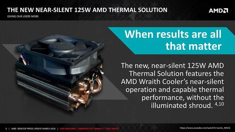 AMD Wraith 125W Thermal Solution Stock CPU APU Heatsink