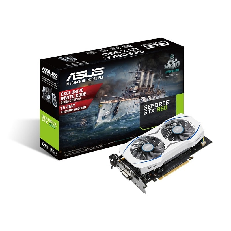 ASUS 75W GeForce Nvidia GTX 950