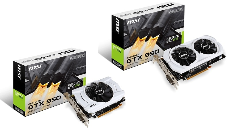 MSI GTX 950 OCV2 OCV3 75W Nvidia GPU