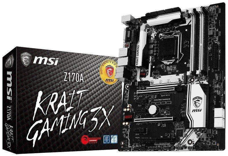 MSI Reveals Z170A Krait Gaming 3X Motherboard