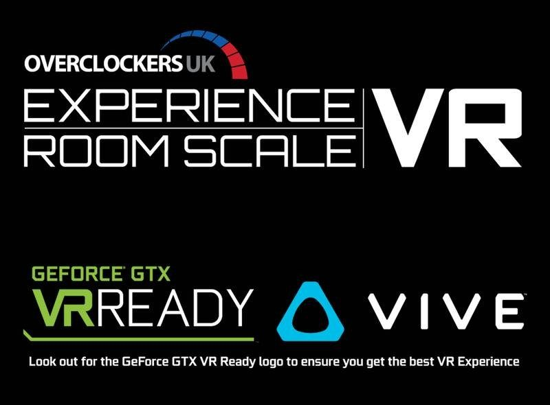 Overclockers UK Experience Room Scale VR Logo