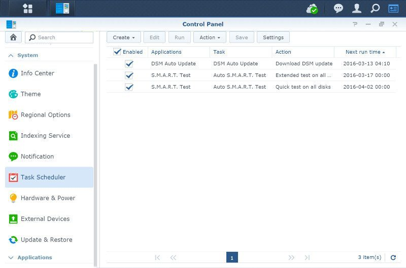 Synology DSM6-SS-task scheduler