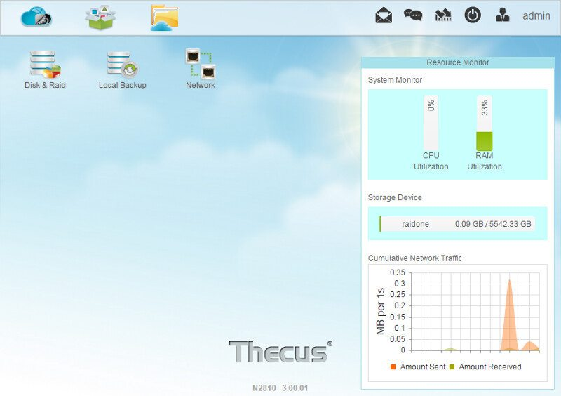 Thecus_N2810-SS-dashboard