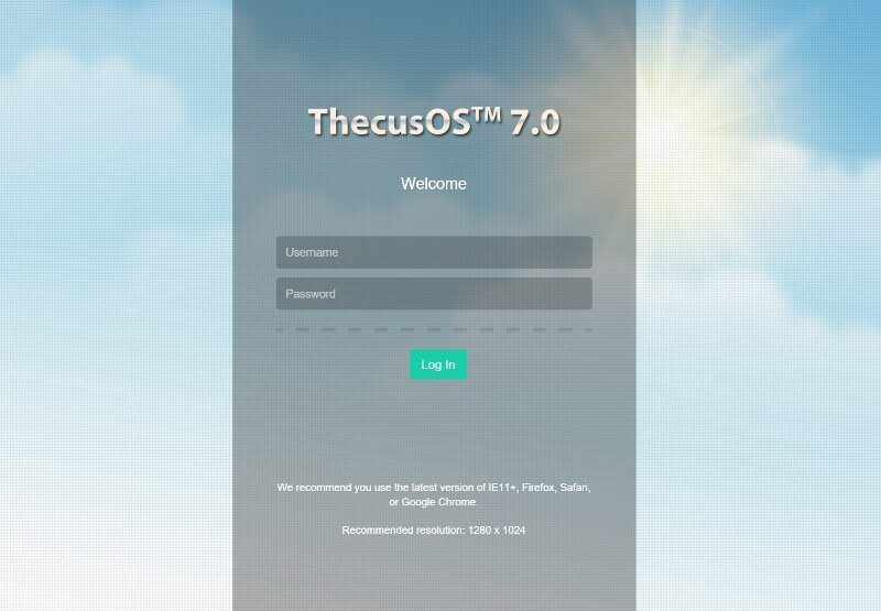 Thecus_N2810-SS-login