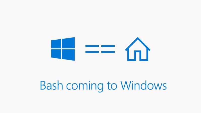 Microsoft Demo Linux Bash Terminal on Windows 10