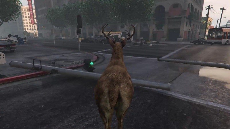 AI-Controlled Deer Causes Chaos in Grand Theft Auto V