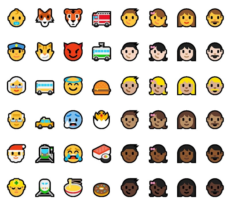 Windows 10 14316 New Emoji