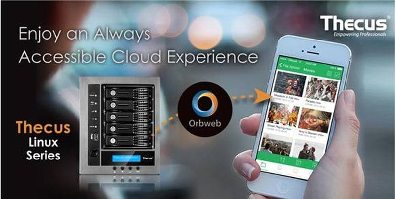 Orbweb me Now Also Supported on All Thecus Linux NAS'   eTeknix