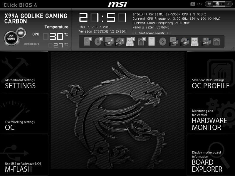 MSI X99A GODLIKE GAMING CARBON (LGA2011-3) Motherboard