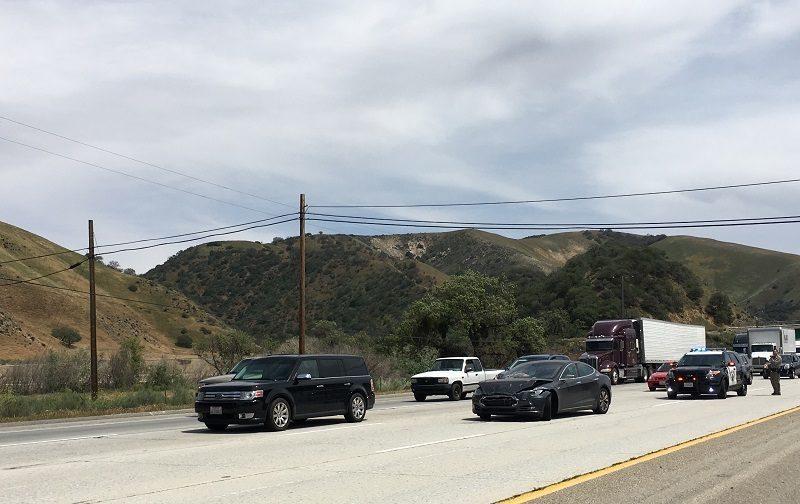 self-driving tesla accident