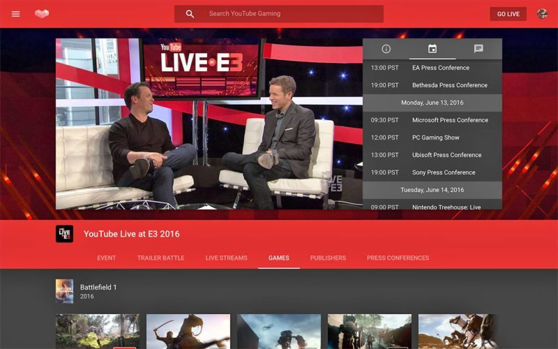 YouTube's Event Hub could bring together all your favorite streams and videos to a single page