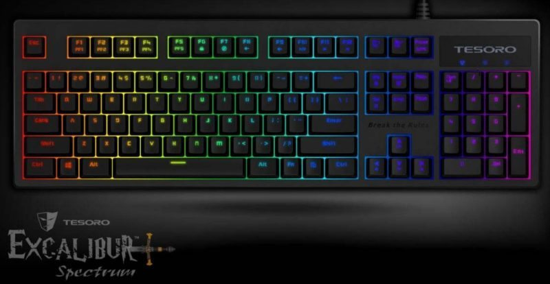Win a Tesoro Excalibur RGB Mechnical Gaming Keyboard