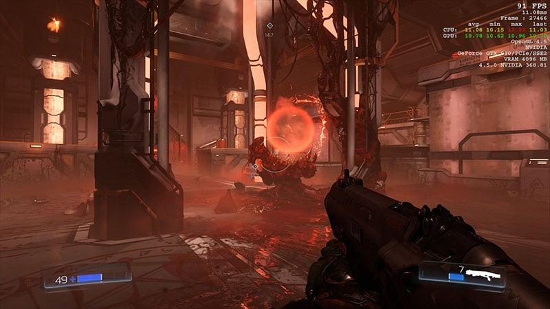Doom OpenGL VS Vulkan Graphics Performance Analysis | eTeknix