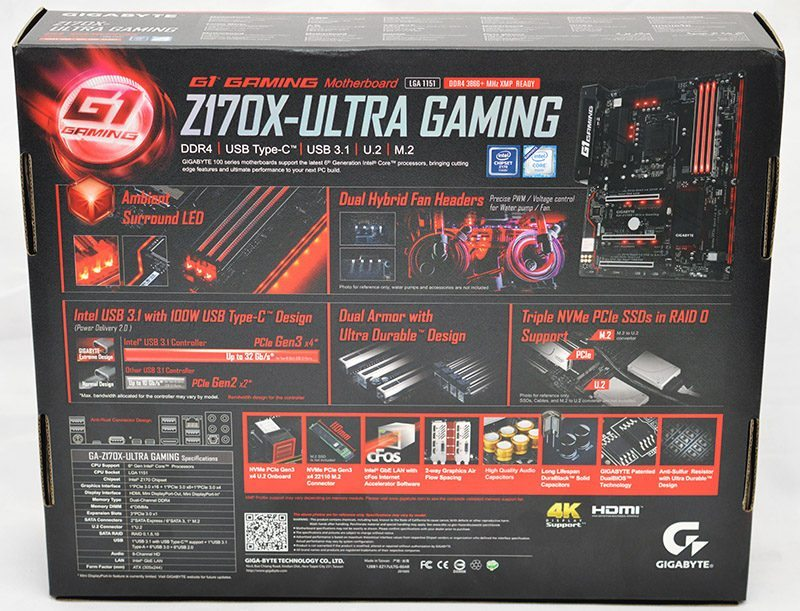 Gigabyte Z170X-Ultra Gaming (LGA1151) Motherboard Review