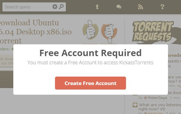 KickassTorrents Mirrors Maliciously Taking Your Details