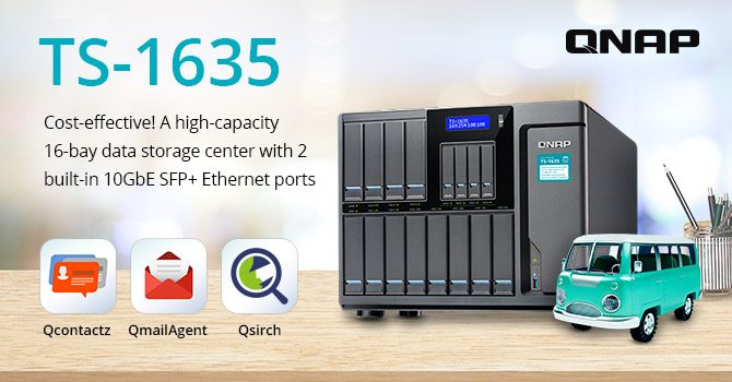 QNAP Launches 16-Bay TS-1635 NAS with Dual 10GbE | eTeknix