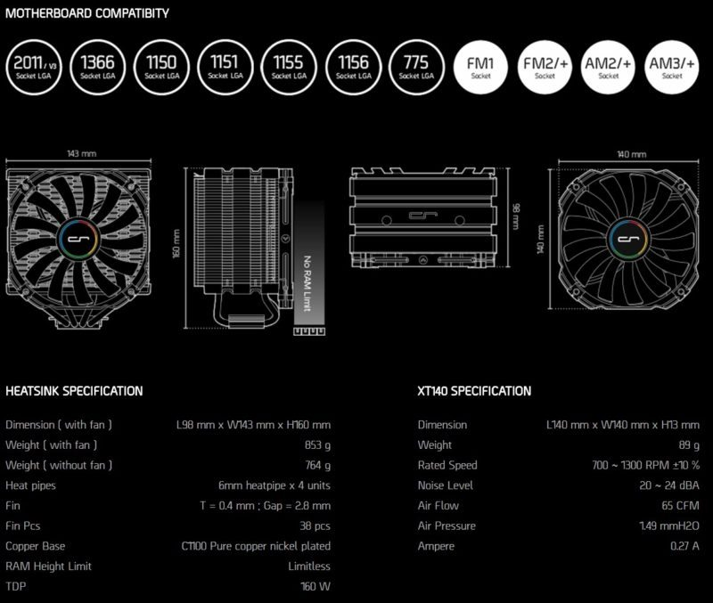 cryorig-h5-specifications