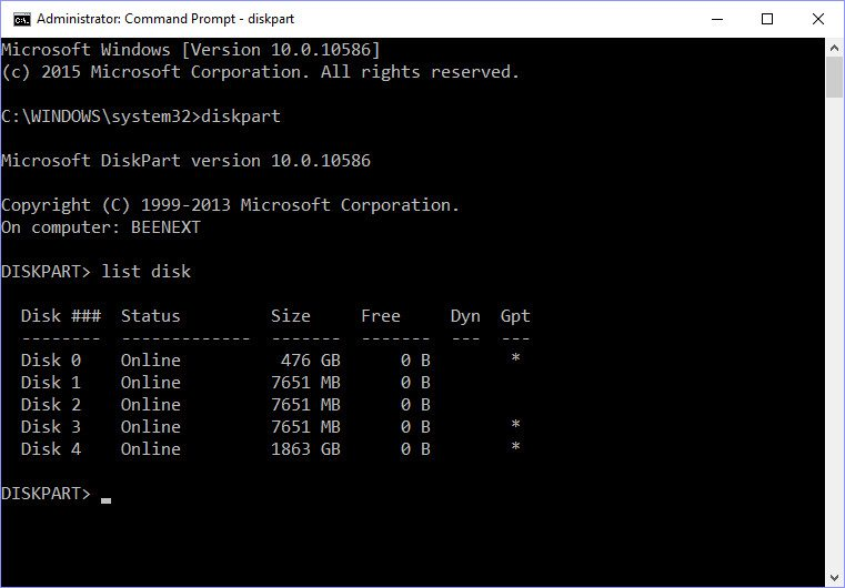 diskpart-with-multiple-drives
