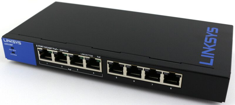Linksys Lgs108p 8 Port Gigabit Poe Desktop Switch Review