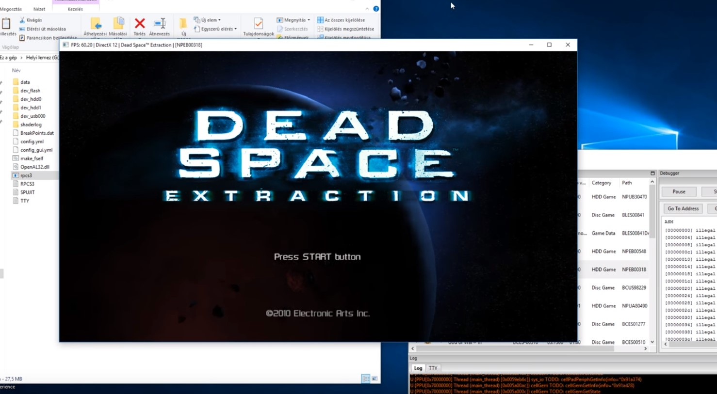 First Game Running 100% on RPCS3 Emulator is Dead Space