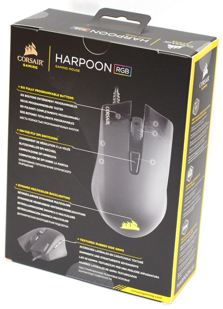 Corsair Harpoon RGB Optical Gaming Mouse Review | eTeknix