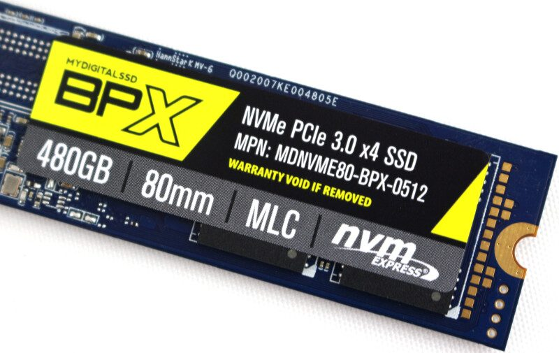 MyDigitalSSD BPX drive-label