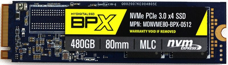 MyDigitalSSD BPX -drive-top
