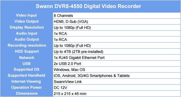 Swann DVR8-4550 8-Channel Full HD Security Kit Review   eTeknix