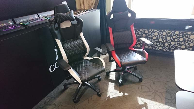 Astounding Corsair Demo New Gaming Chairs At Ces 2017 Eteknix Short Links Chair Design For Home Short Linksinfo