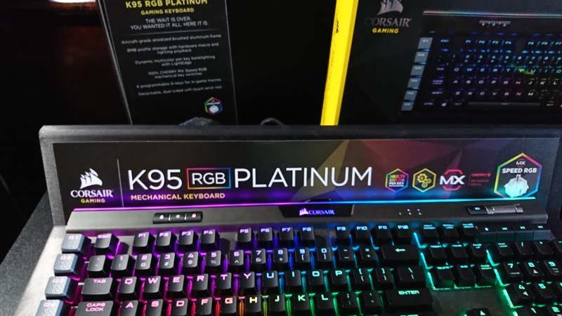 Corsair K95 RGB Platinum at CES 2017 | eTeknix