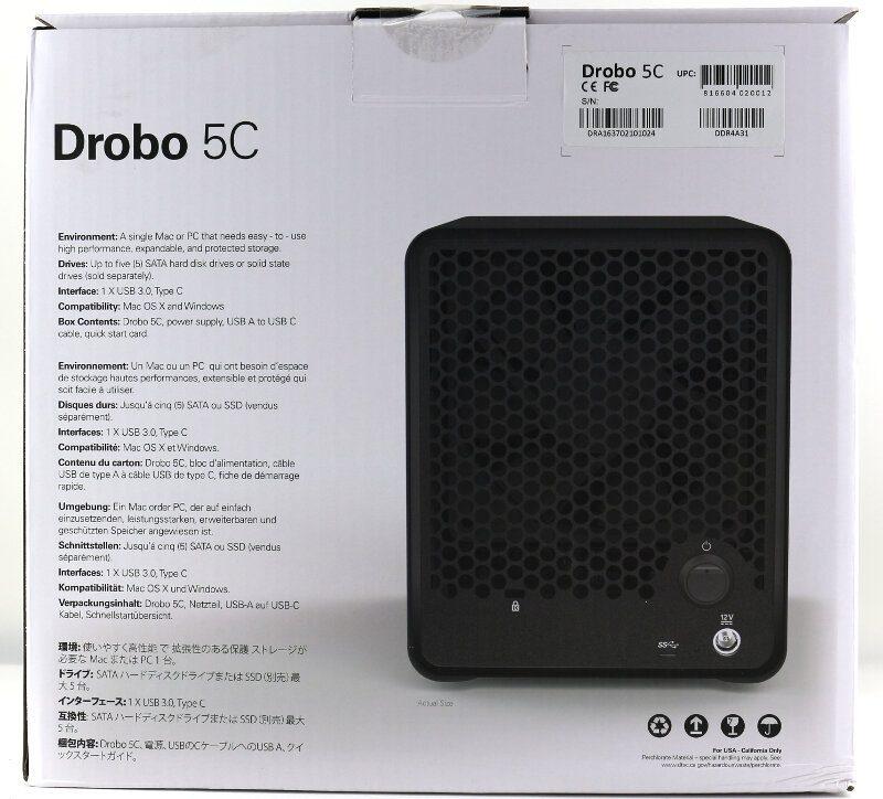 Drobo 5C Photo box rear