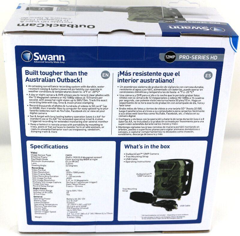 Swann OutbackCam Photo box rear