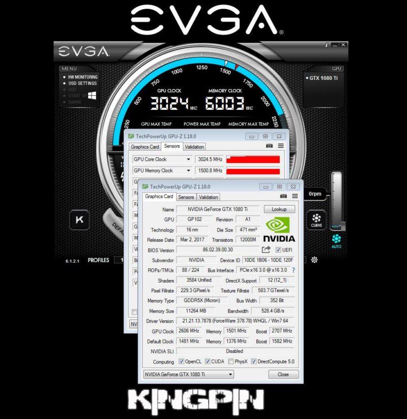 NVIDIA GeForce GTX 1080 Ti Breaks 3GHz Barrier Overclocked on LN2