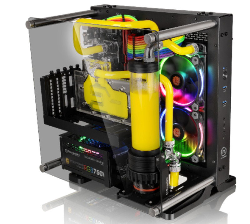 Thermaltake Releases Core P1 Tempered Glass mITX Wall-Mount Chassis   eTeknix